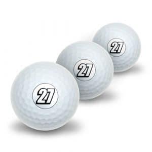 27Nombre Vingt Sept fantaisie de balles de golf Lot de 3