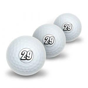 29Nombre Vingt NEUF Novelty Balles de golf Lot de 3