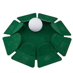 A-szcxtop Intérieur ou extérieur du trou de golf Putter de plaque donnant tous les sens entraînement de football