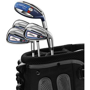 Adams Golf Men's Combo Irons Set, Right Hand, Regular Flex, Graphite Hybrids with Steel Irons, 3,4R5-P, Blue by Adams Golf