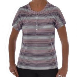 Ashworth Golf pour femme à rayures T-shirt, Violet, 42