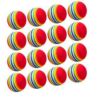 BBTO 16 Pièces Balles de Golf d'Éponge Golf Balles Mousse Eva Balles de Golf de Pratique Intérieur pour Débutants Enfants et Amateurs