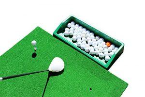 Big Shot de Golf, Golf Formation professionnelle pratique Tapis de frappe avec plateau et 5x Tés. En Caoutchouc Pour Être Utilisé avec de Golf Practice Net Filet de golf,