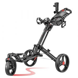 caddytek EZ Swivel 360Golf Push 3roues Trolley pushtr Olley 3Wheel noir roues Vert (Noir/Vert)