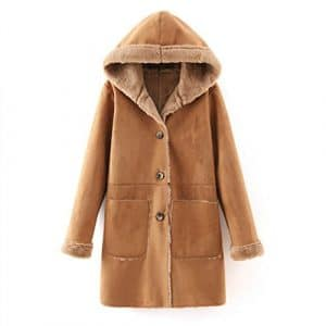 CU@EY Manteau / féminin mode hooded cardigan / suede / long manteau de fourrure , picture color , l