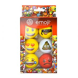 Emoji EMGB001 Lot de 6 Balles de Golf Mixte Adulte, Blanc, N/A