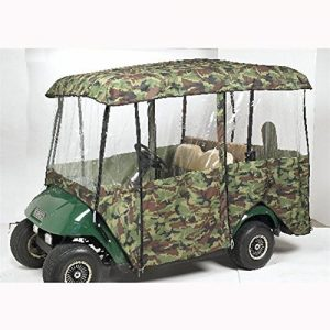 Greenline 4 Passenger Drivable Golf Cart Enclosure (Camo, 106×47.5×62-Inch) by Greenline 4 Passenger Driveable Enclosures