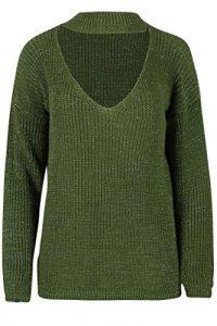 Islander Fashions – Pull – Femme – vert – Large