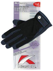 Kasco Beige femmes gants de Golf-Bleu marine-Taille L