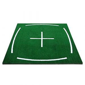LM Édition D'enseignement Golf Hit Pad Driving Range Tapis De Pratique 3D Dédiée Version Plus Épaisse Ball Pad Plus La Couche De Colle Herbe ( Couleur : 3D , taille : +Non-slip mat )