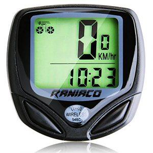 Ordinateur de vélo, Compteur de Vitesse Sans Fil pour Bicyclette, Raniaco Bike Computer Kilométrique Multifonction