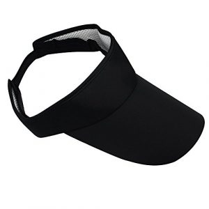 Sport soleil Visière Bonnet Casquette réglable pour de Tennis de Golf Blanc noir Noir