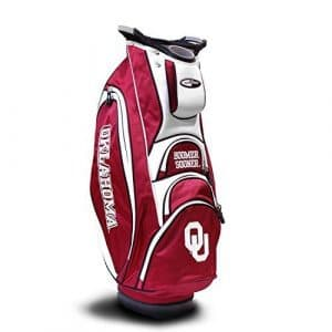 Team Golf NCAA Oklahoma Cart Bag, Multicolor by Sportsman Supply Inc.