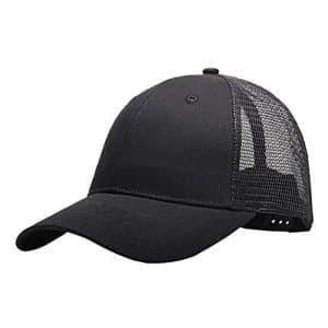 Tinksky Universal Summer Baseball Cap Cooling Sports Mesh Hat pour Golf Cyclisme Running Fishing Outdoor Activity, Cadeaux de fête des pères ou cadeaux pour hommes (Noir)