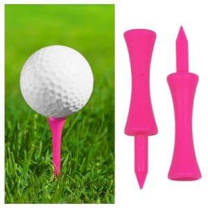 TRIXES 100 tees de golf rose lumineux