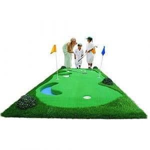 TT Golf Putt Pratique Mat Pratique Couverture Intérieure et Extérieure Balançoire Pratique Mat Simulation Sandpit 150 * 375 cm