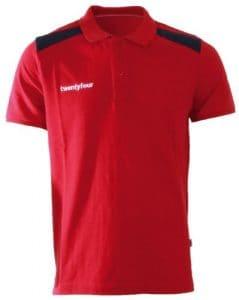 Twentyfour Polo aux couleurs de la Norvège pour homme Rouge Rouge Large