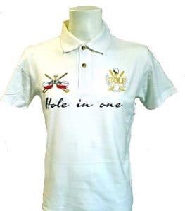 VIA PRINT Polo maille piquée coton Femme Blanc Tailles M GOLF Gold