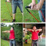 Bandes de résistance fitness Yoga ou pilates fitness Gym Sport de Golf Formation sida main droite (2niveaux) 2/pack (Résistance: 1solide, 1m)