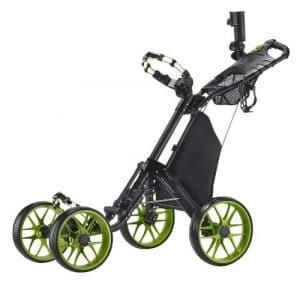 CaddyTek One-Click Folding 4 Wheel Version 3 Golf Push Cart, Lime by CaddyTek