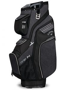 Callaway 2018 ORG 14 Cart Bag Mens Golf Trolley Bag 14-Way Divider Black/Titanium/White