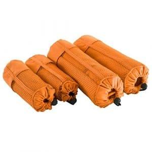 Deconovo 2 Serviettes en Microfibre Absorbante Voyage Gym Plage 50×100 cm 2 Pcs 90×180 cm Salle de bain Loisirs Camping Orange