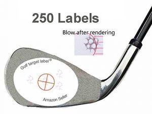 golftarget Golf Impact Étiquettes Cible Ruban adhésif autocollant (250)