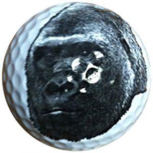 Gorilla visage en forme de balle de golf