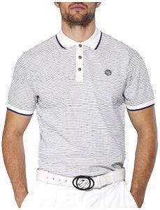 IJP design fine t-shirt de golf pour homme XS Blanc – Blanc