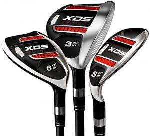 Lot de Acer xds Couvre-Club Hybride pour homme Graphite Regular, Droitier inclus chiffres 4,5,6,7,8,9, PW, SW–8clubs Clubs (Choisissez votre taille Grip)