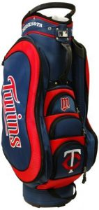 MLB Minnesota Twins Medalist Cart Golf Bag, Navy by Team Golf