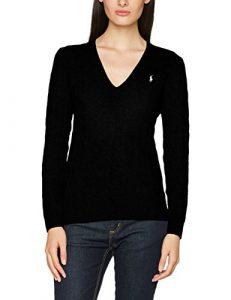 Polo Ralph Lauren Kimberly LS Swt, Polo Femme, Schwarz (Polo Black A00Pb), XL