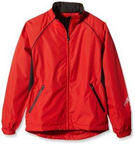 ProQuip Aquastorm Boy's Plus Ultralite Europa Pantalon imperméable Noir/gris Fire Red/Black 13-14 ans