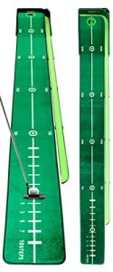 Putting Mat BEST Track by best-service24 | BEST Track Manual Return | Limited Editon | including Ball-Return-Rail, 300 x 30cm