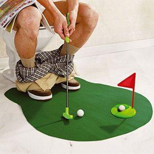 Sentik® Toilettes Jeu de mini Golf Putter de pot de salle de bain fantaisie donnant Cadeau jouet Trainer Lot