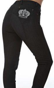 Sherwood Forest Pantalon d'équitation pour femme Multicolore noir/gris 10 UK