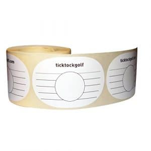 Ticktockgolf–Practise Swing Impact Tape (250A Stickers/étiquettes)