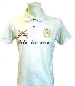 VIA PRINT Polo maille piquée coton Femme Blanc Tailles XL GOLF Gold