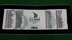2015 U.S. Open Chambers Bay Past Champions Golf Towel w/Hook by Devant
