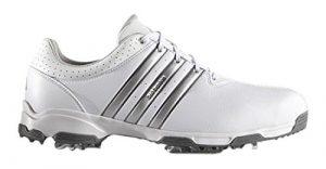 adidas 360 Traxion Wd, Chaussures de Golf Homme, Blanc (White/Silver Metallic/Dark Silver Metallic), 46 EU