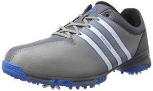 adidas 360 Traxion Wd, Chaussures de Golf Homme, Gris (Light Onix/White/Shock Blue), 41 1/3 EU