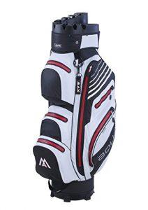 BIG MAX Aqua I-Dry Silencio Golf Cartbag – 100% Wasserdichte Golftasche -Schwarz/Weiß/Rot