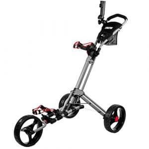 Biltek & # Xfffd; Biltek Premium 3roues chariot de golf Argent Parapluie Scorecard support
