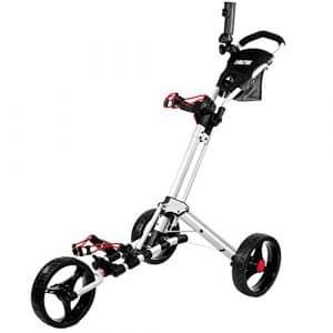 Biltek & # Xfffd; Biltek Premium 3roues chariot de golf Blanc Parapluie Scorecard support
