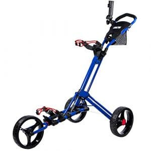 Biltek & # Xfffd; Biltek Premium 3roues chariot de golf Bleu Parapluie Scorecard support