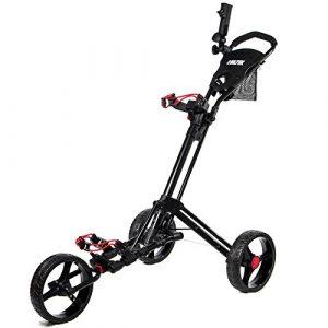 Biltek & # Xfffd; Biltek Premium 3roues chariot de golf chariot Noir Parapluie Scorecard support
