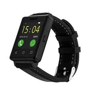 Black Smart Watch with TF Card Slot Anti Lost, Smart Watch All-in-One, Bluetooth Smart Watch For Children Remote Camera