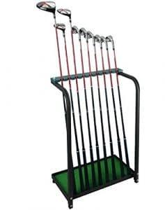 Club de Golf Club de golf crestgolf Organisateurs Étagère stable en métal, vert