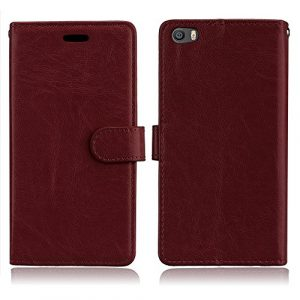 Coque Xiaomi Mi 5, Étui Housse en Cuir Xiaomi 5, [Premium Flip Case] BONROY Rétro couleur unie PU Cuir Portefeuille Etui Magnétique Coque de Protection,Ultra Slim PU Leather Bookstyle Wallet Cover Coquille Couverture avec Option Stand et emplacement de cartes pour Xiaomi 5 Xiao Mi 5 MI5 M5 – Brown