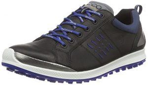 Ecco ECCO MEN'S GOLF BIOM HYBRID 2, Chaussures de Golf homme – Noir – Schwarz (BLACK/ROYAL59577), 42